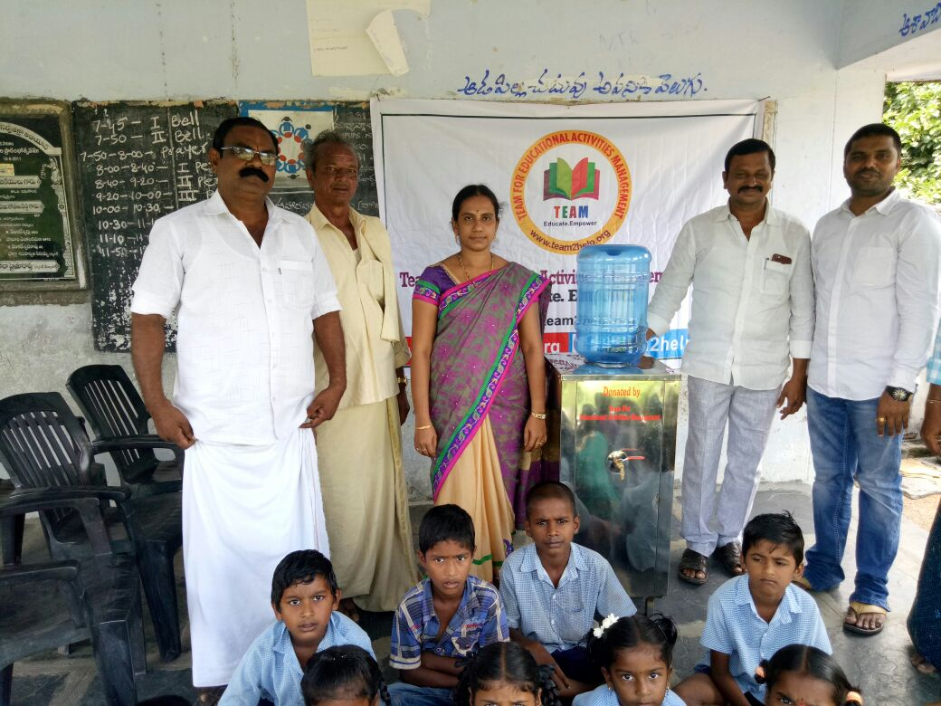 Water cooler donation to MPPS Gantavaripalem,Guntur Dist, AP
